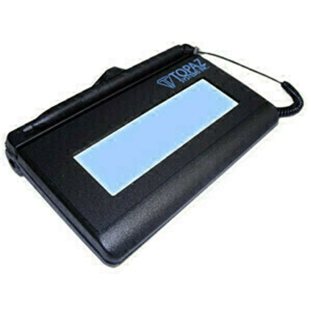 """Topaz T-L460-B-R Electronic Signature Pad Topaz T-LBK460 SigLite 1x5 LCD - SigLite T-L460 Electronic Signature Capture Pad - Backlit LCD - 4.40"""" x 1.30"""" Active Area LCD - non-Backlight - Serial - 410 PPI"""