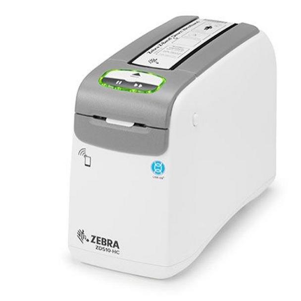 Zebra ZD510-HC Wristband Printer - ZD51013-D01E00FZ, Health care Wristband Printer, Standard ZD510-HC with USB, USB Host, Ethernet (10/100), Bluetooth, NALA Power cord