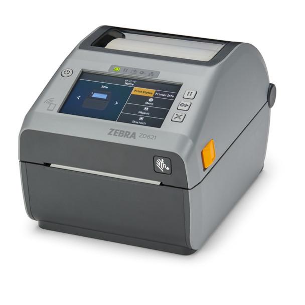 Zebra ZD6A043-D11F00EZ Barcode Label Printer, Zebra ZD621d - Direct thermal Printer ZD621, 300 dpi, USB, USB Host, Ethernet, Serial, Bluetooth, Dispenser (Peeler), US Cord, Swiss Font, EZPL