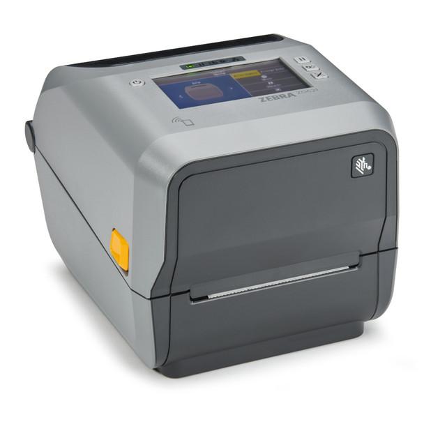 Zebra ZD621, ZD6A042-311F00EZ, Thermal Transfer Printer (74/300M) ZD621; 203 dpi, USB, USB Host, Ethernet, Serial, BTLE5, Dispenser (Peeler), US Cord, Swiss Font, EZPL