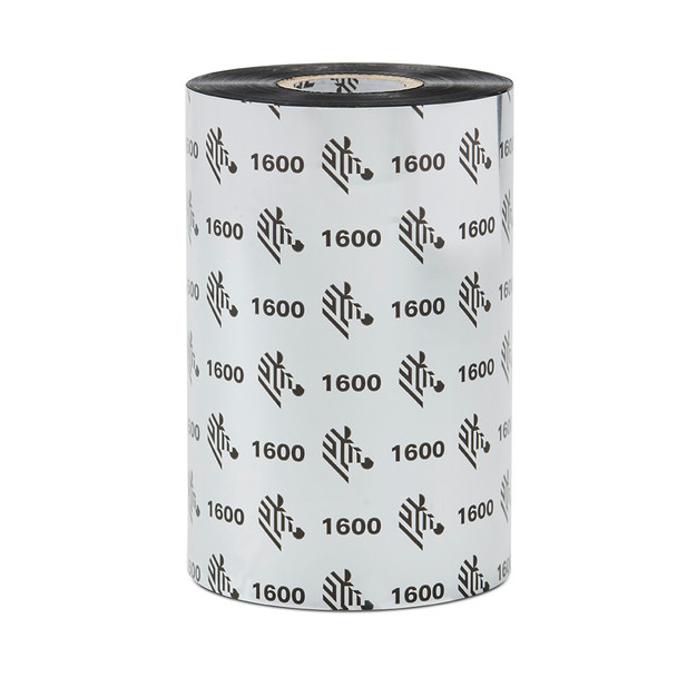 Zebra Wax Ribbon - 01600GT06430 -1600; Economy, 1in core, 24/box