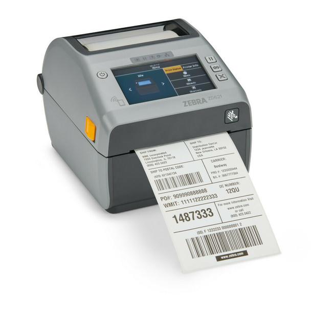 "ZD621 Direct Thermal 4"" Print Width Desktop Printer, ZD621 Direct Thermal Printer; 203 dpi, USB, USB Host, Ethernet, Serial, BTLE5, Cutter, US Cord, Swiss Font, EZPL, ZD6A042-D21F00EZ"