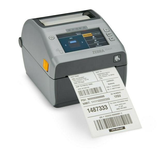 "ZD621 Direct Thermal 4"" Print Width Desktop Printer, ZD621 Direct Thermal Printer; 203 dpi, USB, USB Host, Ethernet, Serial, BTLE5, Linerless with Cutter and Label Taken Sensor, US Cord, Swiss Font, EZPL, ZD6A042-D41F00EZ"