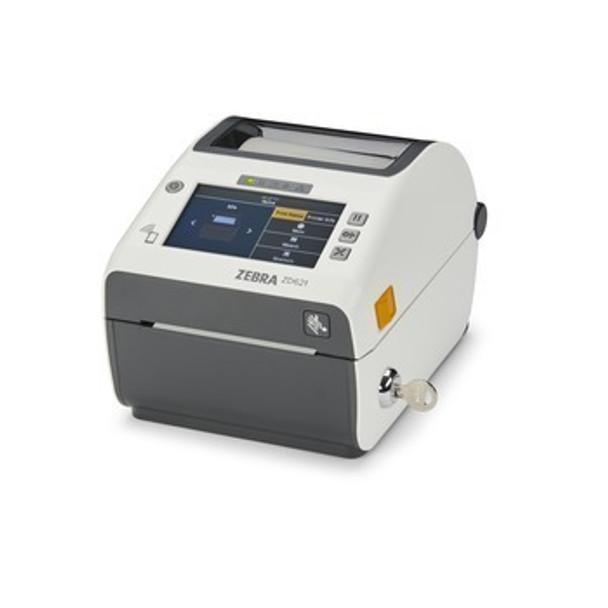 Zebra ZD621 Direct Thermal Healthcare Desktop Printer - Color Touch LCD; 300 dpi, USB, USB Host, Ethernet, Serial, 802.11ac, BT4, USA/Canada, US Cord, Swiss Font, EZPL - ZD6AH43-D01L01EZ