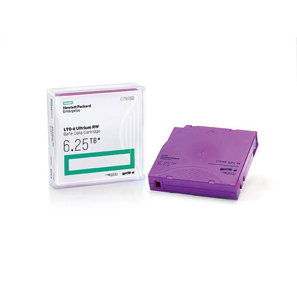 HPE LTO 6 Tape with BaFe (Barium Ferrite) C7976B