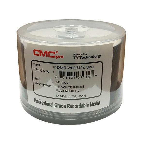 CMC Pro DVD-R Disc Water Shield 4.7GB, 16x White Inkjet Hub Printable