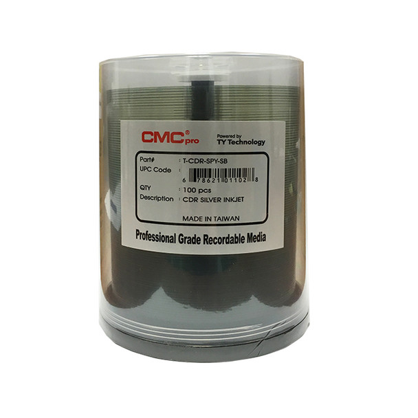 CMC Pro CD-R Disc Silver Inkjet Printable  T-CDR-SYP-SB