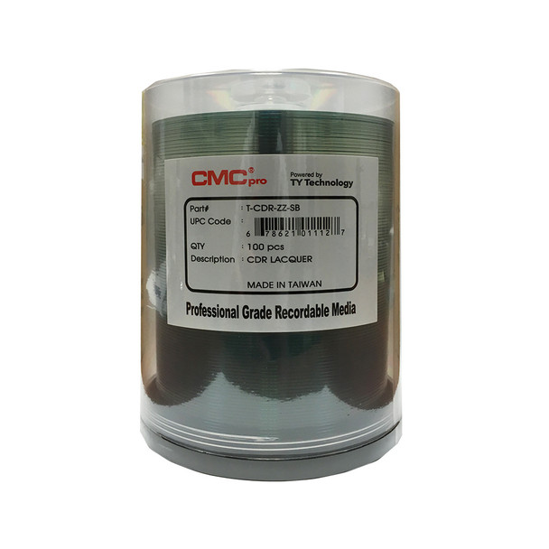 CMC Pro CD-R Disc 80min/700MB 52x Silver Lacquer Surface T-CDR-ZZ-SB