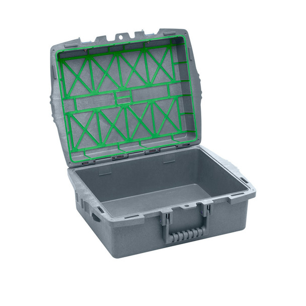 XpresspaX Single Tray Container - Charcoal Gray