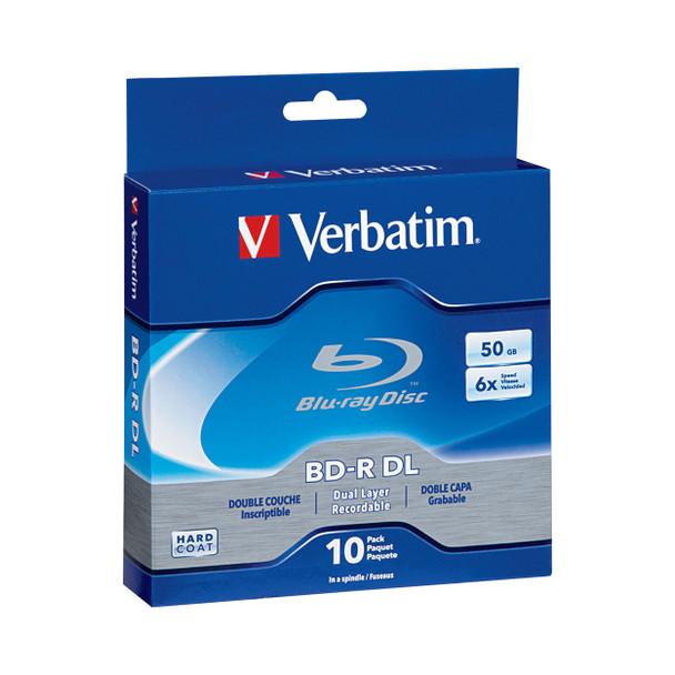 Verbatim 50GB 6x Blu-ray Disc BD-R DL (10-Pack Spindle) 97335