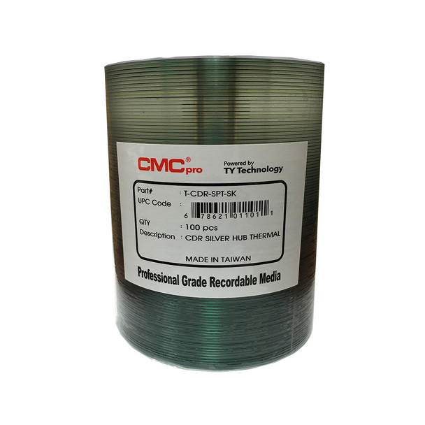 CMC Pro CD-R Disc Silver Thermal Everest Hub Printable T-CDR-SPT-SK - JVC/Taiyo Yuden