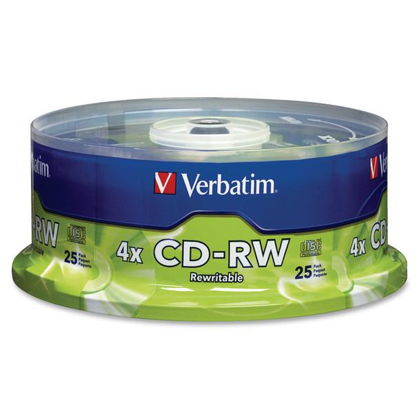 Verbatim CD-RW 700MB Branded Disc - Increments of 25 95169