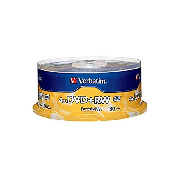 Verbatim 94834 DVD+RW 4.7GB 4X 94834 Branded Surface - 30 Disc Spindle