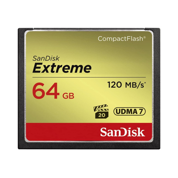 SanDisk 64GB Extreme Compact Flash Memory Card SDCFXS-064G-A46