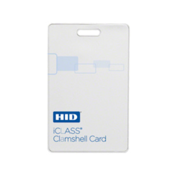 HID 208X iClass ClamShell Cards - PROGRAMMED - Qty. 100