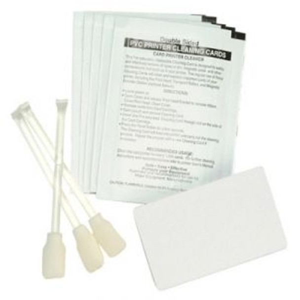 Zebra 105909-169 Cleaning Kit - Cleaning Cards & Swabs Cleaning kit for Zebra card printers - 50 cleaning cards - 25 cleaning swabs