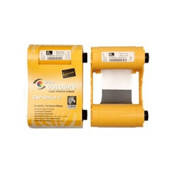 Zebra 800033-850 Black Dye-Sublimation with Overlay Ribbon (KdO)with clear overlay panel Includes Cleaning Roller - 500 prints