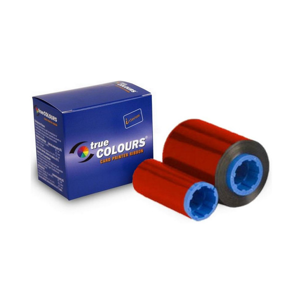Zebra 800015-102 TrueColours C Series Red Monochrome Ribbon -Cleaning roller included -1000 prints per roll