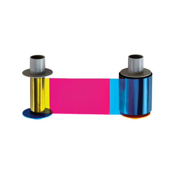 Buy Fargo YMCK Full-Color Ribbon for HDP5000 Printers featuring Yields Approximately 500 Prints, Full-Color Printing Plus Black Panel