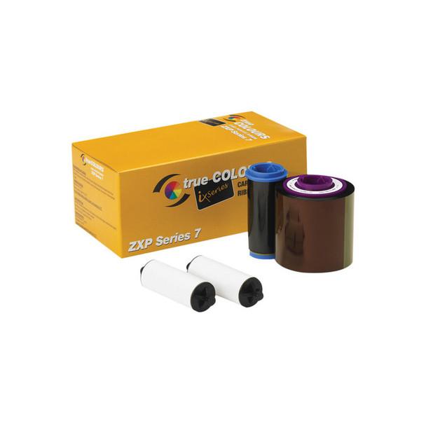 Zebra Technologies 800077-701 True Colors IX Series Monochrome Ribbon for ZXP Series - 7 Compatible -Black - 2500 Labels per Roll