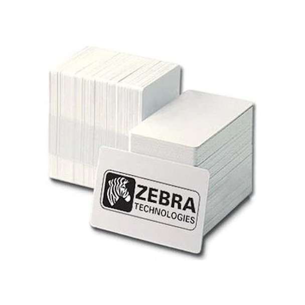 ZEBRA 104523-111 Premier PVC Card, Standard White, CR80 30 mil ID cards - Box of 500 cards