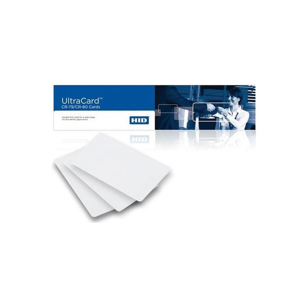 Fargo Ultracard 82266 CR80 10 Mil, PVC Cards Adhesive Paper-Backed Box of 500