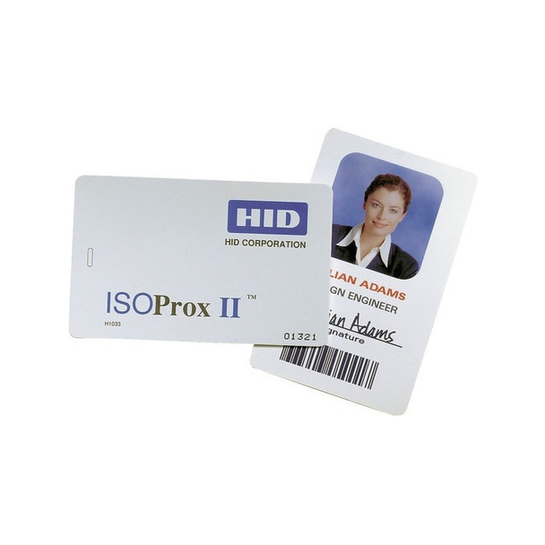 HID 1324GAN22 Glossy Label/Card ISOProx II and ProxCard II size, no slot punch, white adhesive back - Box of 100