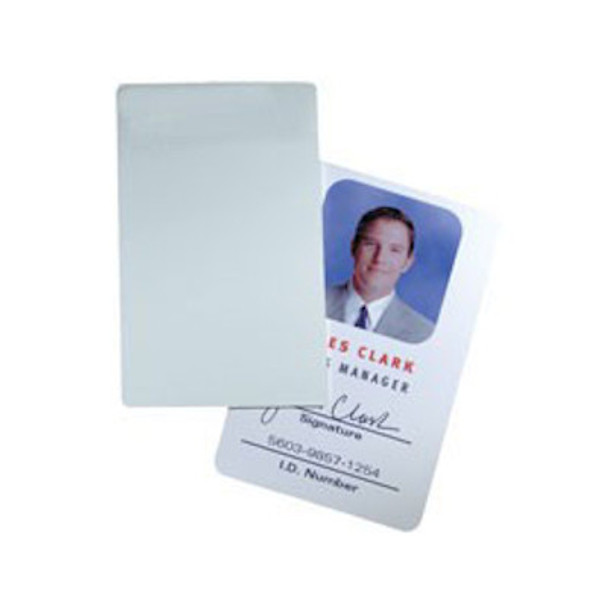 HID 1324GAN11 Glossy Label/Card ProxCard II size, no slot punch, white adhesive back - Box of 100