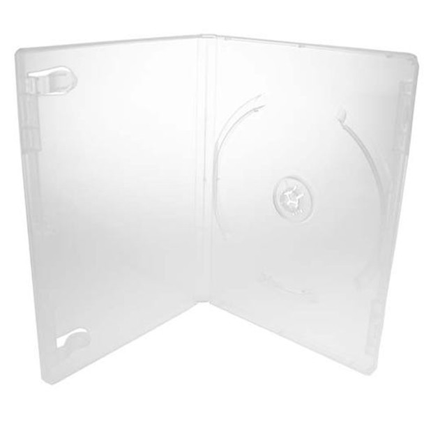 Standard Clear DVD Case Glossy with Literature Clips and Overlay - Open