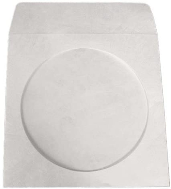 White Tyvek CD/DVD Sleeve with Window and Flap - 1000 Per Box