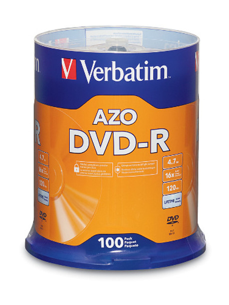 Verbatim DVD-R  4.7GB 16X Branded - 100PK Spindle