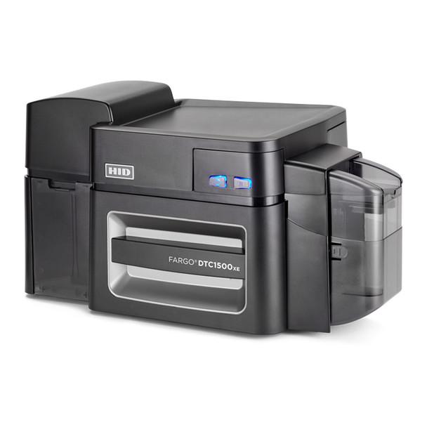 Fargo 51405 DTC1500 ID Card Printer - Dual-Sided - No Lamination