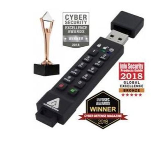 Apricorn Aegis Secure Key 3Z - 128GB USB Flash/Thumb Drive