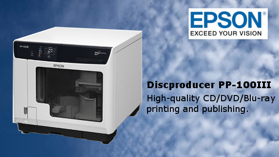 Epson Discproducer pp-100III DVD/CD/Blu-Ray Disc Publisher