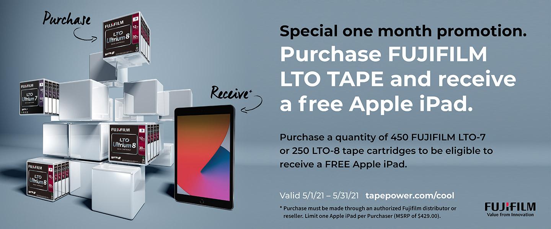 Fujifilm LTO Tape / Apple iPad Promotion