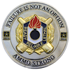 Custom ammo strong challenge coin.