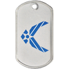 Custom dog tag with airforce symbol color printed on matte tag.