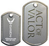 mini dog tag vs regular sized dog tag  comparison photo.