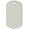 blank white mini dog tag