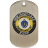 Offset Printed dog tag with epoxy coating on a .8mm aluminum dog tag.