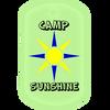 Camp sunshine glow in the dark dog tag.