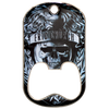 Eric church offset printed dog tag bottle opener middle slot.