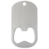 Blank silver middle slot dog tag bottle opener.