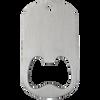 Blank silver middle slot dog tag bottle opener.