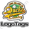 Long Island Ducks custom baseball patch. 3 colors custom embroidery baseball patches.