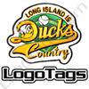 Long Island Ducks custom baseball patch 4 inch custom patch. 3 colors custom embroidery baseball patches.