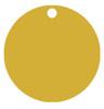 Gold aluminum cirle tag.