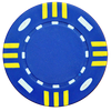 Blue custom poker chip