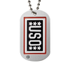 Custom USO Photo Etched Dog Tag with ball chain