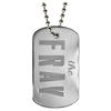 The fray diamond diamond engraved dog tag.